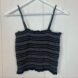 American Eagle Outfitters Smocked Tube Tank Top M